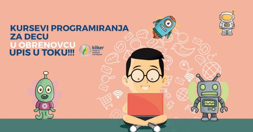 Prolećni kursevi programiranja za decu u Obrenovcu – 24.3.2018.