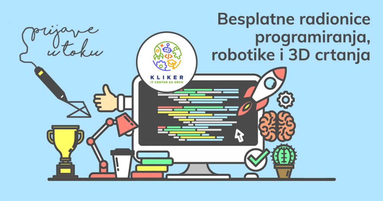 besplatne radionice programiranja, robotike i 3D crtanja - 24. jun
