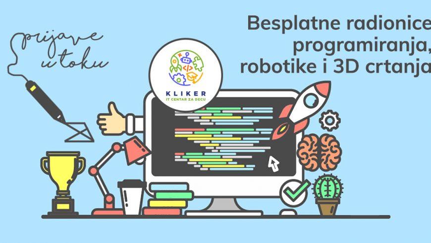 Besplatne radionice programiranja, robotike i 3D crtanja – 15. septembar 2018.