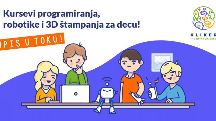 Jesenji kursevi programiranja, robotike i 3D štampe za decu. Početak je 22. i 23. septembra.