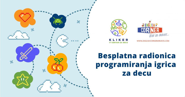 Prijava za besplatnu radionicu programiranja igrica u subotu 25.5. u Mirijevu